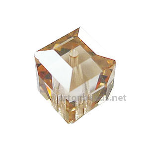Golden Shadow - Swarovski 5601 Cube - 8mm