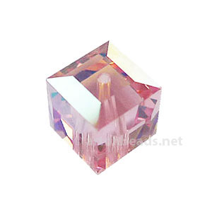 Light Rose AB - Swarovski 5601 Cube - 8mm