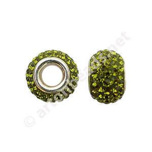 Olivine - Swarovski Large Hole Diamond Bead - 7x12mm