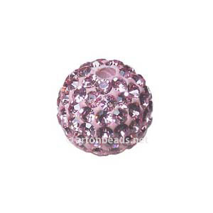 Light Rose - Swarovski Full Diamond Bead - 10mm