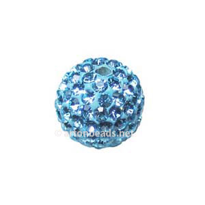 Aquamarine - Swarovski Full Diamond Bead - 10mm