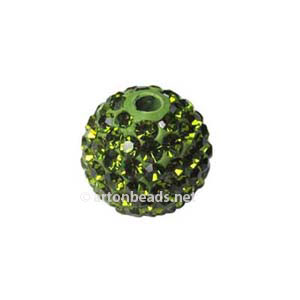 Olivine - Swarovski Full Diamond Bead - 10mm