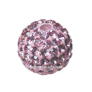 Light Rose - Swarovski Full Diamond Bead - 12mm
