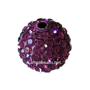 Amethyst - Swarovski Full Diamond Bead - 12mm