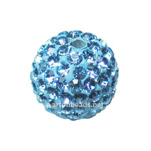 Aquamarine - Swarovski Full Diamond Bead - 12mm