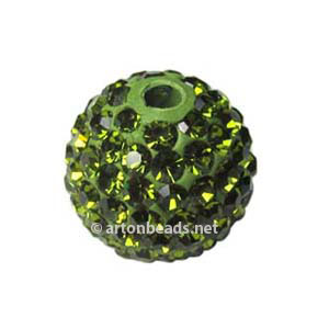 Olivine - Swarovski Full Diamond Bead - 12mm