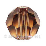 Light Smoked Topaz - Swarovski 5000 Round - 8mm