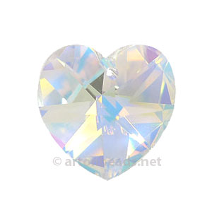 *Crystal AB - Swarovski 6228 Heart -14mm