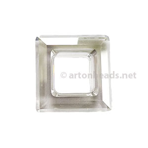 Silver Shade - Swarovski 4439 Square Ring - 20mm