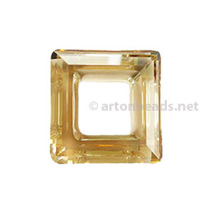 Golden Shadow - Swarovski 4439 Square Ring - 20mm