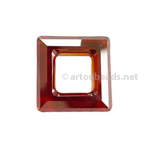 Red Magma -Swarovski 4439 Square Ring - 20mm