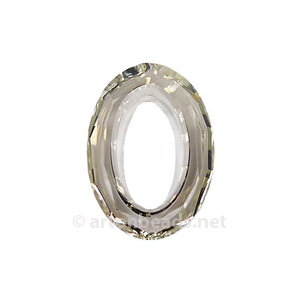 Silver Shade - Swarovski 4137 Cosmic Oval - 22x16mm
