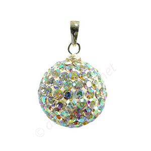 Crystal AB - Swarovski Full Diamond Ball Pendant - 12mm