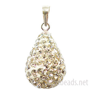 Crystal - Swarovski Full Diamond Tear-drop Pendant - 19x10mm