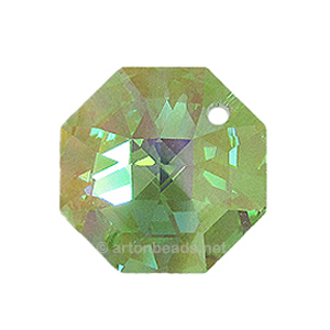 Light Peridot AB - SW 8115 One Hole Octagon 14mm
