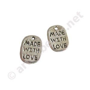 Casting Charm - Made with Love - 8x10mm - 25pcs