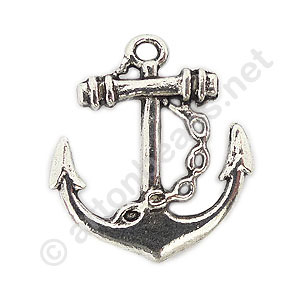 Casting Charm - Anchor - 24x28mm - 4pcs