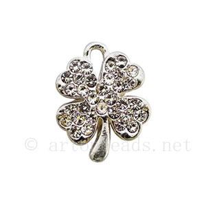 Rhinestone Charm - Flower - 16.4x13mm - 2pcs