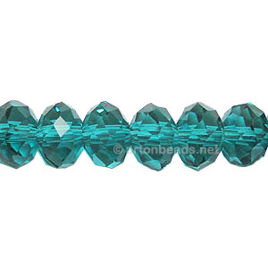 *Blue Zircon - 6x8mm Chinese Machine Cut Crystal A+