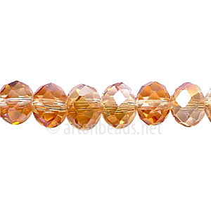 Crystal Amber Iris - 6x8mm Chinese Machine Cut Crystal A+