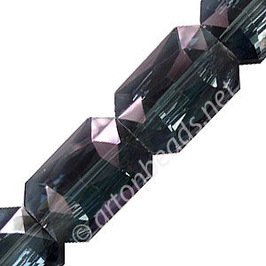 Chinese Crystal Pieces (#22) - 33x24mm - Montana Purple