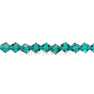 *Chinese Crystal Bicone - Light Emerald - 4mm