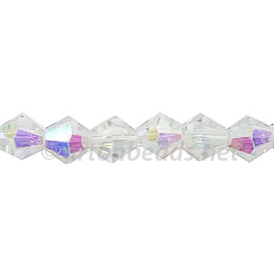 Chinese Crystal Bicone - Crystal AB - 6mm