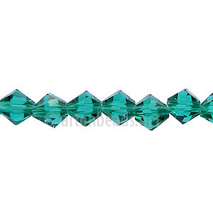 *Chinese Crystal Bicone - Light Emerald - 6mm