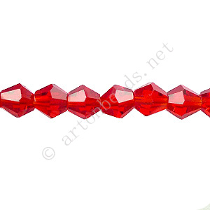 Chinese Crystal Bicone - Siam Luster - 6mm