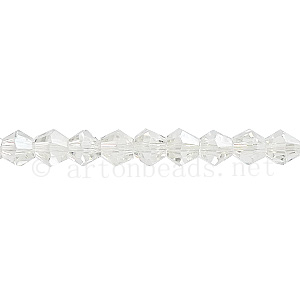 Chinese Crystal Bicone - Crystal Luster - 4mm