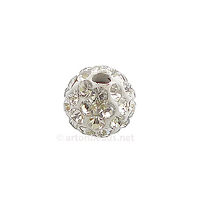 Shamballa Diamond Beads - 8mm - 3pcs