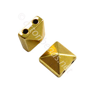 Spike - Antique Gold Plated - 10.5x6mm - 10pcs
