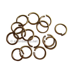 Jump Ring - Antique Brass Plated - 1.4x12mm - 20pcs