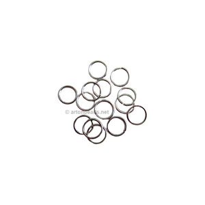 Jump Ring - White Gold Plated - 0.7x4mm - 1000pcs
