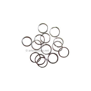 Jump Ring - White Gold Plated - 0.7x5mm - 1000pcs