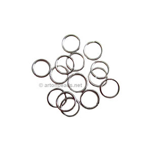 Jump Ring - White Gold Plated - 0.8x6mm - 200pcs