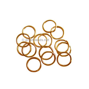 Jump Ring - 18K Gold Plated - 0.9x7mm - 100pcs