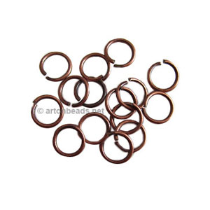 Jump Ring - Antique Copper Plated - 1x8mm - 100pcs