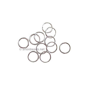 Jump Ring - 925 Silver Plated - 0.8x6mm - 1000pcs