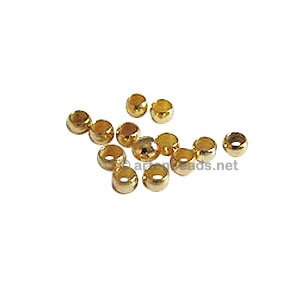 Crimps - 18K Gold Plated - 2.5mm - 200pcs