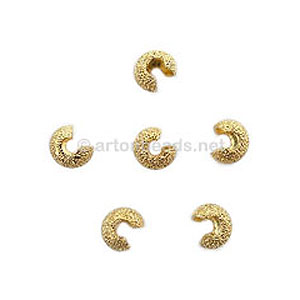 Star-Dust Crimp Cover - 18K Gold Plated - 4mm - 25pcs