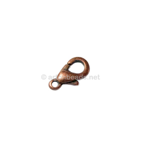 Lobster Clasp - Antique Copper Plated - 10mm - 10pcs
