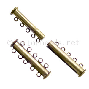 Multi-strand Magnetic Clasp - Antique Brass Plated - 5 strands