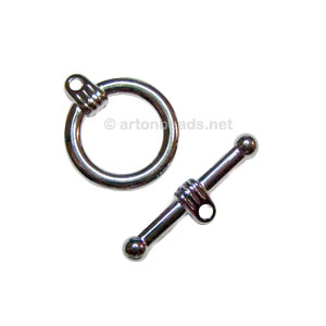 Toggle Clasp - Gun Metal Plated - 19mm - 3 Sets