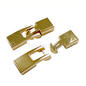 Glue End Clasp - 18k Gold Plated - ID 2.5x6.7mm - 3 Sets