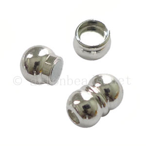 Magnetic Clasp - 925 Silver Plated - ID 4mm - 2 Sets