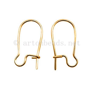 Earring Hook - 18K Gold Plated - 20mm - 30pcs
