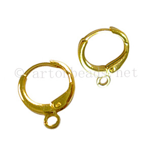 Earring Leverback - 18K Gold Plated - 11mm - 20pcs