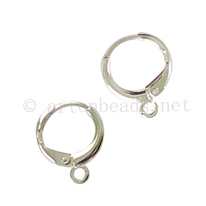 Earring Leverback - 925 Silver Plated - 11mm - 20pcs