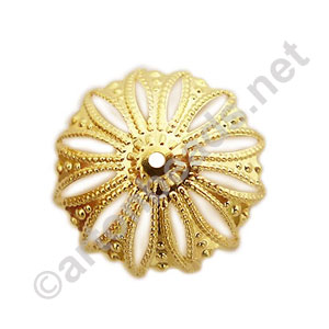 Bead Cap - 18k Gold Plated - 21mm - 8pcs